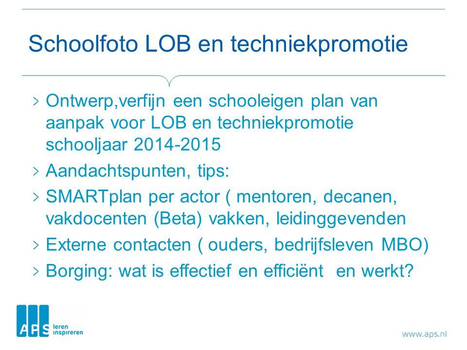 Schoolfoto LOB en techniekpromotie