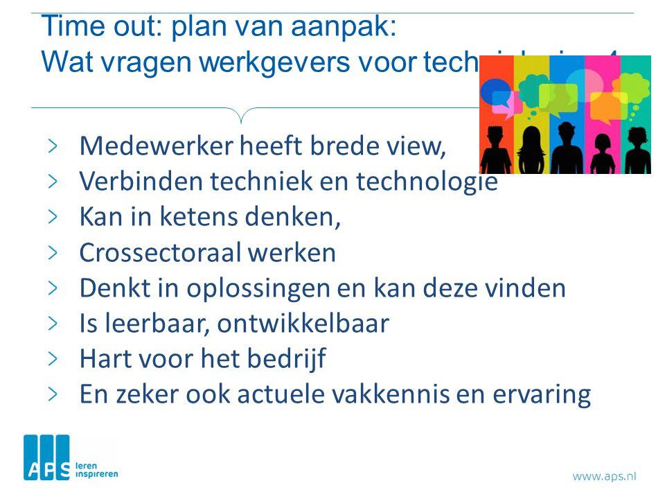 Time out: plan van aanpak: Wat vragen werkgevers voor techniek nivo 4
