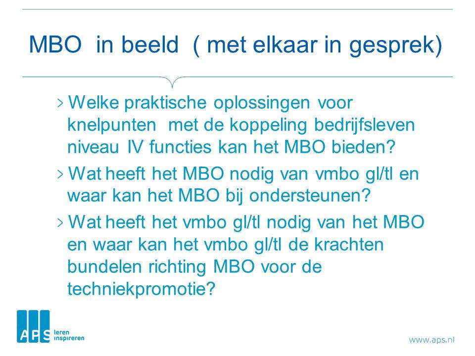 MBO in beeld ( met elkaar in gesprek)