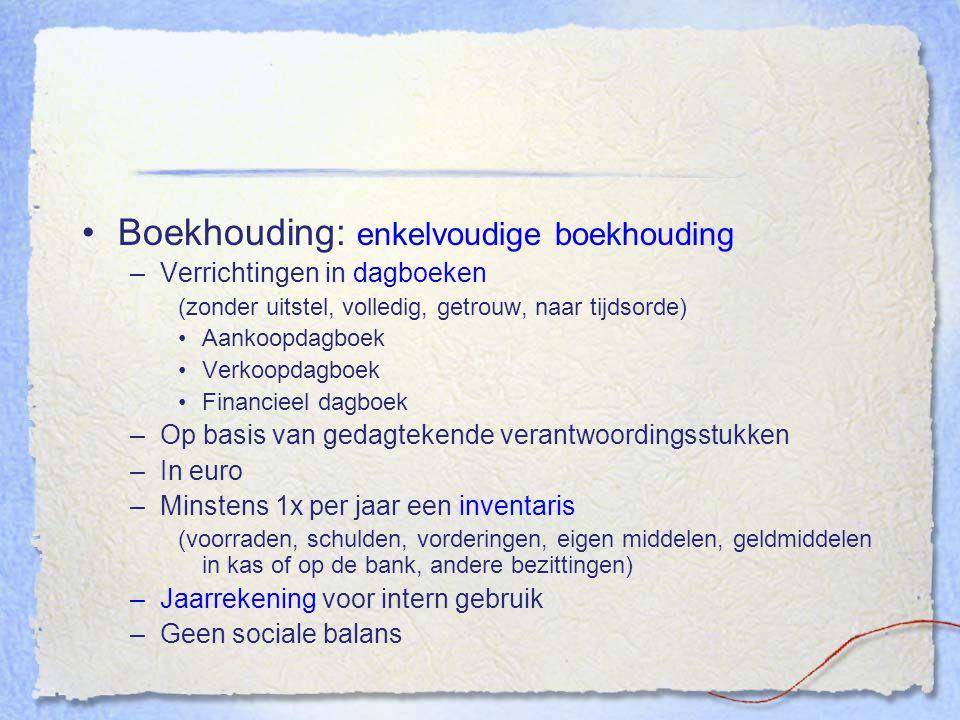Boekhouding: enkelvoudige boekhouding