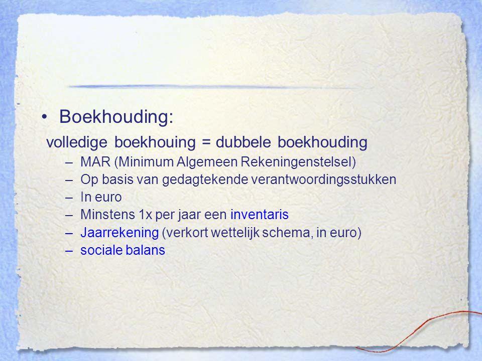 volledige boekhouing = dubbele boekhouding