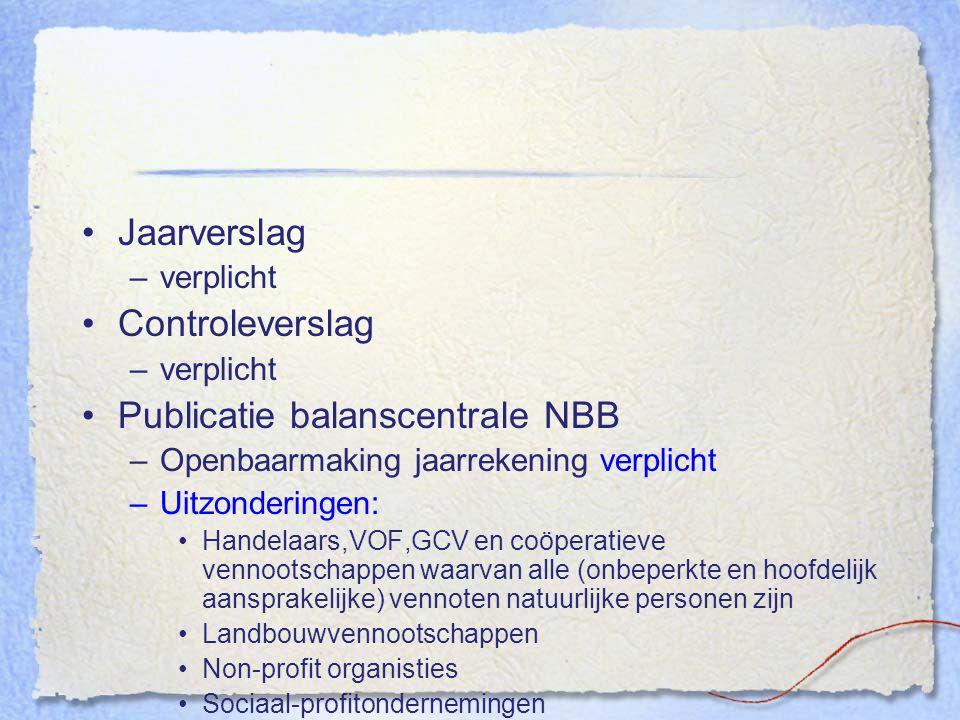 Publicatie balanscentrale NBB