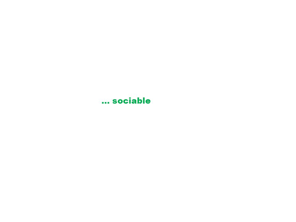 … sociable