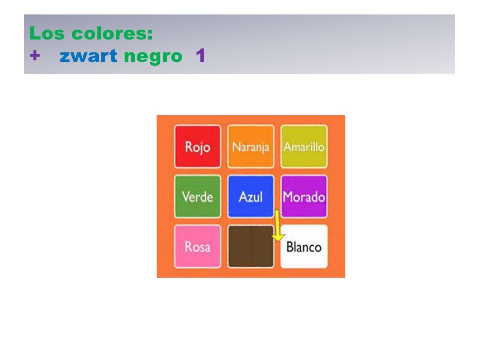 Los colores: + zwart negro 1