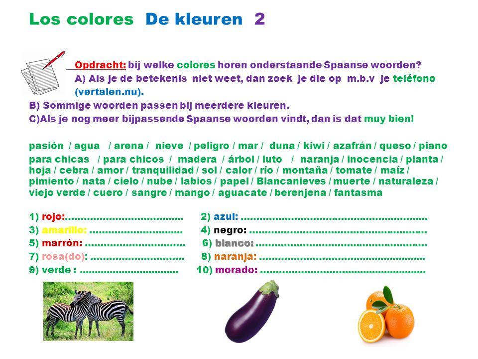 Los colores De kleuren 2