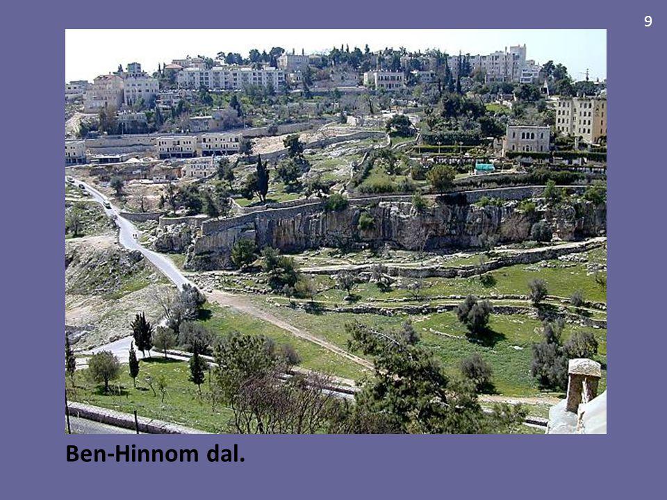 Ben-Hinnom dal. 9 Achtergrond van het Ben-Hinnomdal