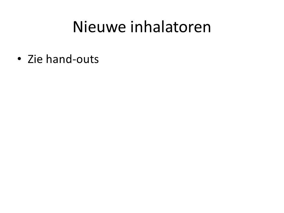 Nieuwe inhalatoren Zie hand-outs