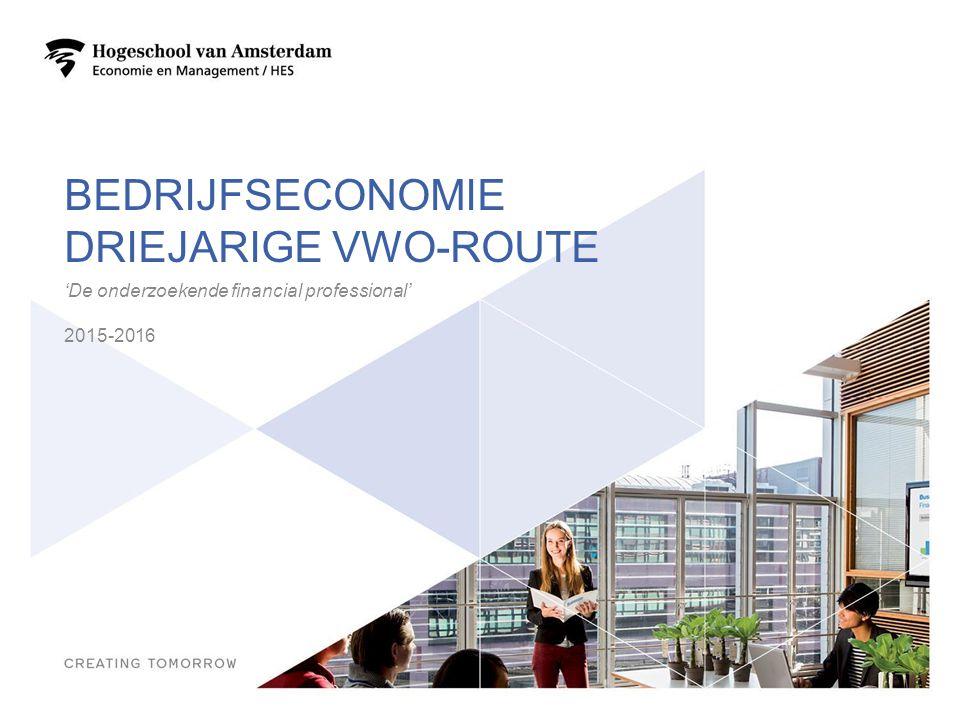 Bedrijfseconomie driejarige vwo-route