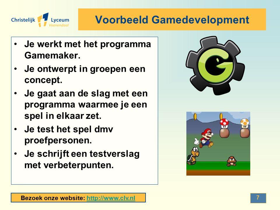 Voorbeeld Gamedevelopment