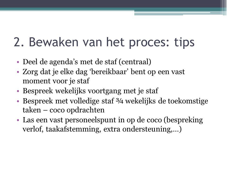 2. Bewaken van het proces: tips