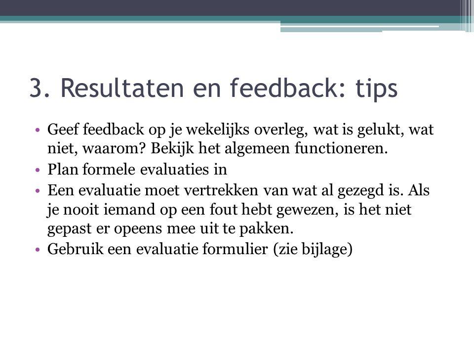 3. Resultaten en feedback: tips