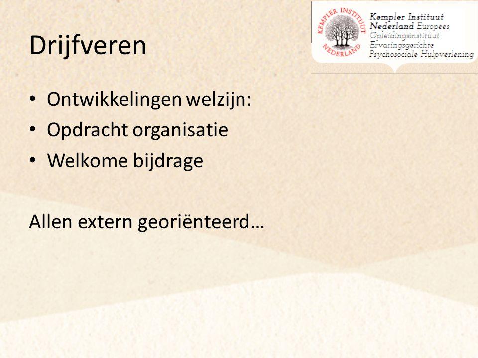 Drijfveren Ontwikkelingen welzijn: Opdracht organisatie