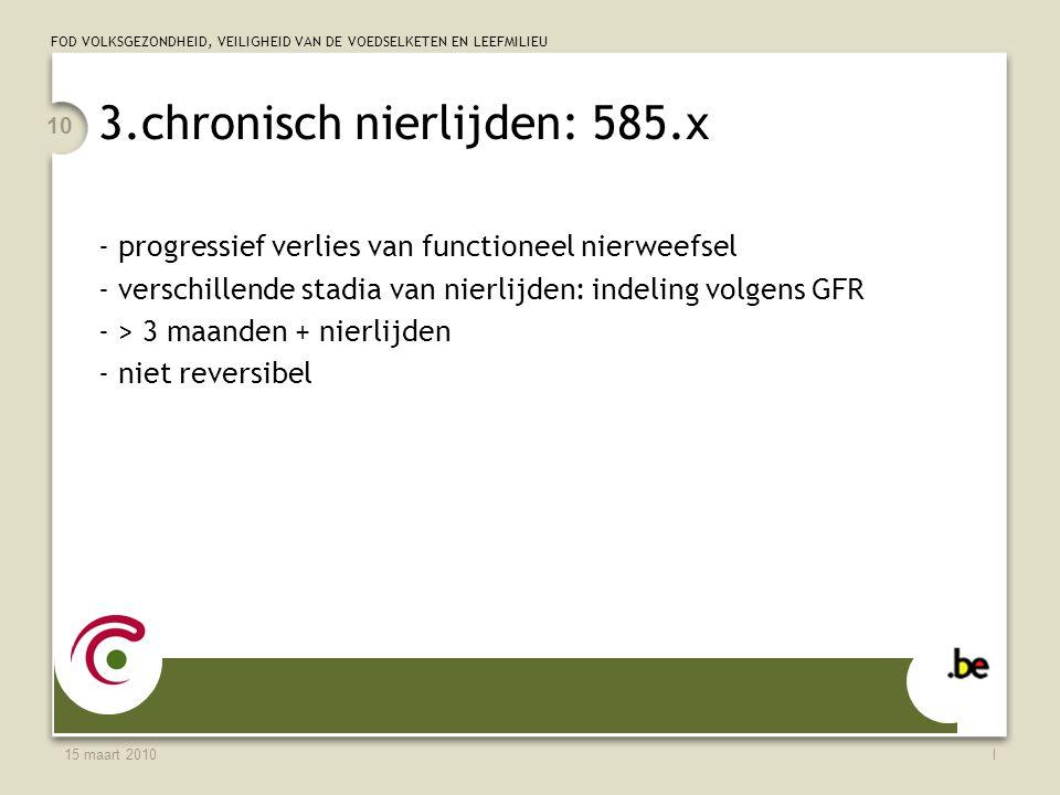 3.chronisch nierlijden: 585.x