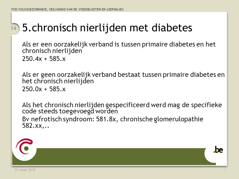 5.chronisch nierlijden met diabetes