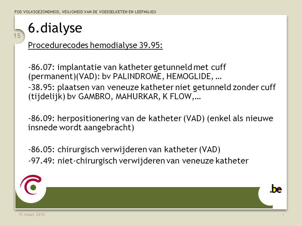 6.dialyse Procedurecodes hemodialyse 39.95: