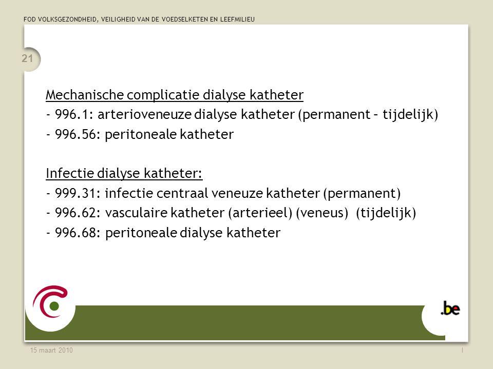 Mechanische complicatie dialyse katheter