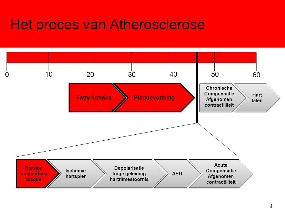 Het proces van Atherosclerose