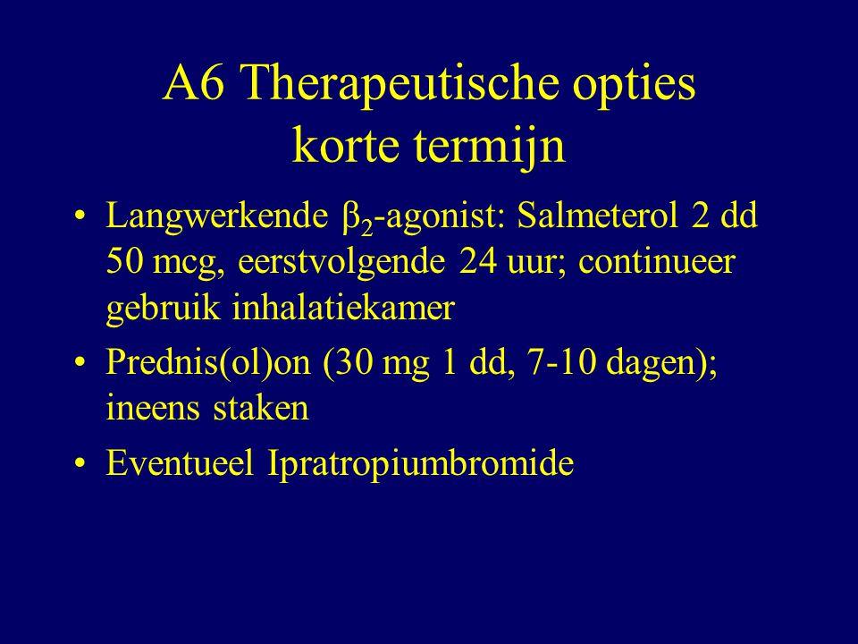 A6 Therapeutische opties korte termijn