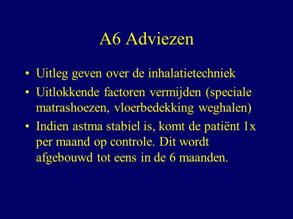 A6 Adviezen Uitleg geven over de inhalatietechniek
