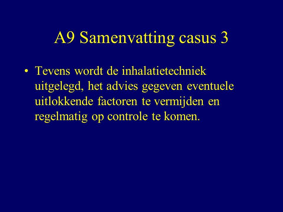 A9 Samenvatting casus 3