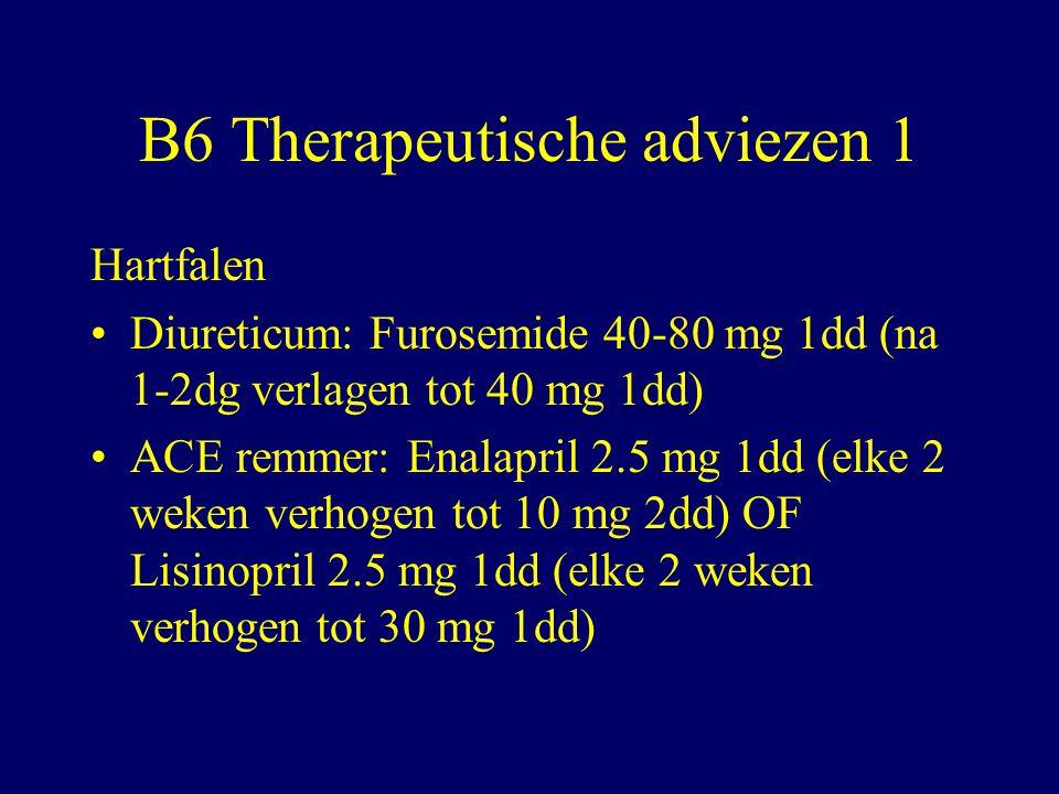 B6 Therapeutische adviezen 1
