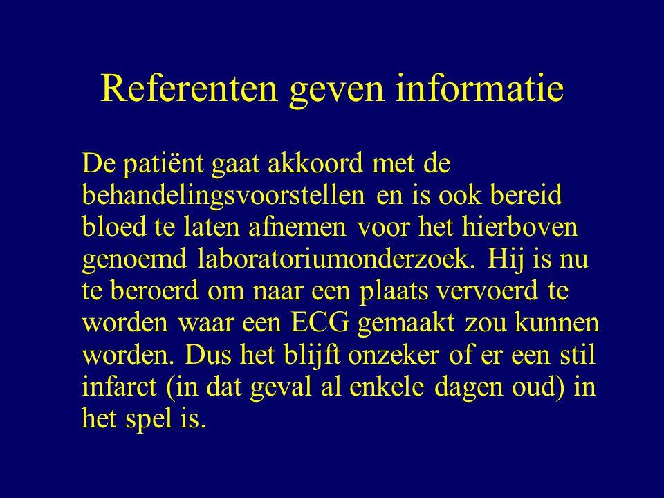 Referenten geven informatie