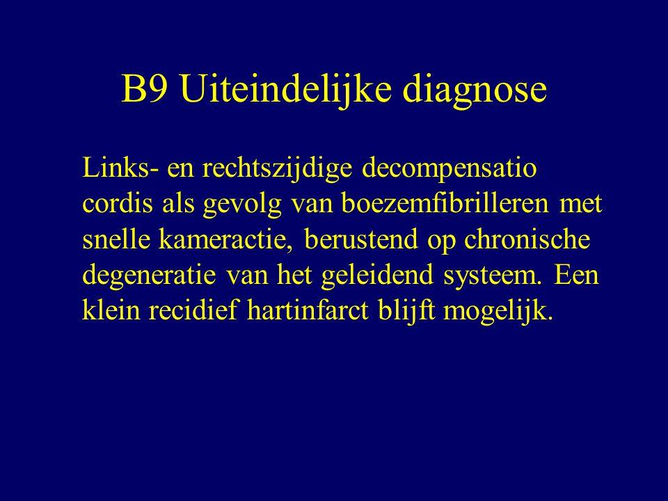 B9 Uiteindelijke diagnose