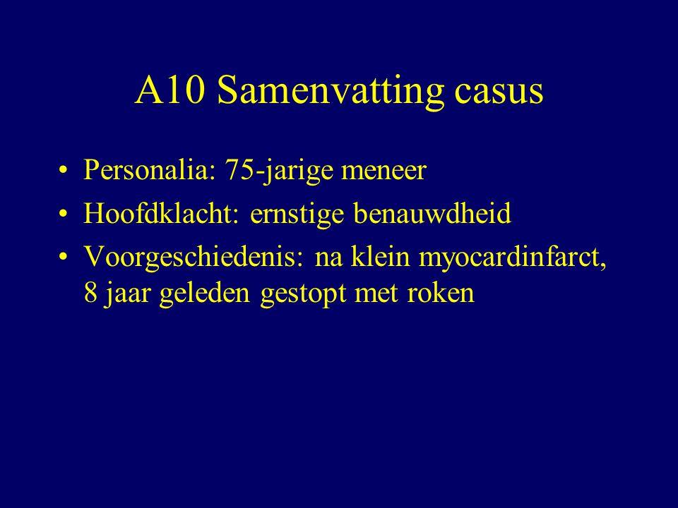 A10 Samenvatting casus Personalia: 75-jarige meneer