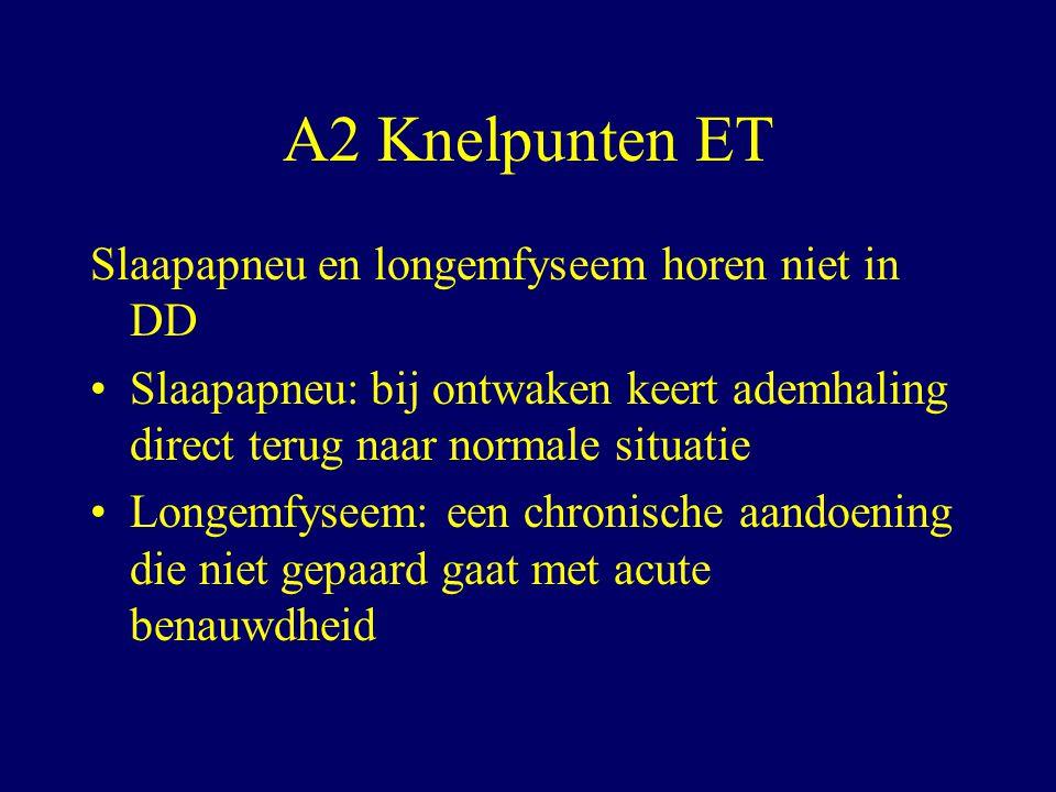 A2 Knelpunten ET Slaapapneu en longemfyseem horen niet in DD