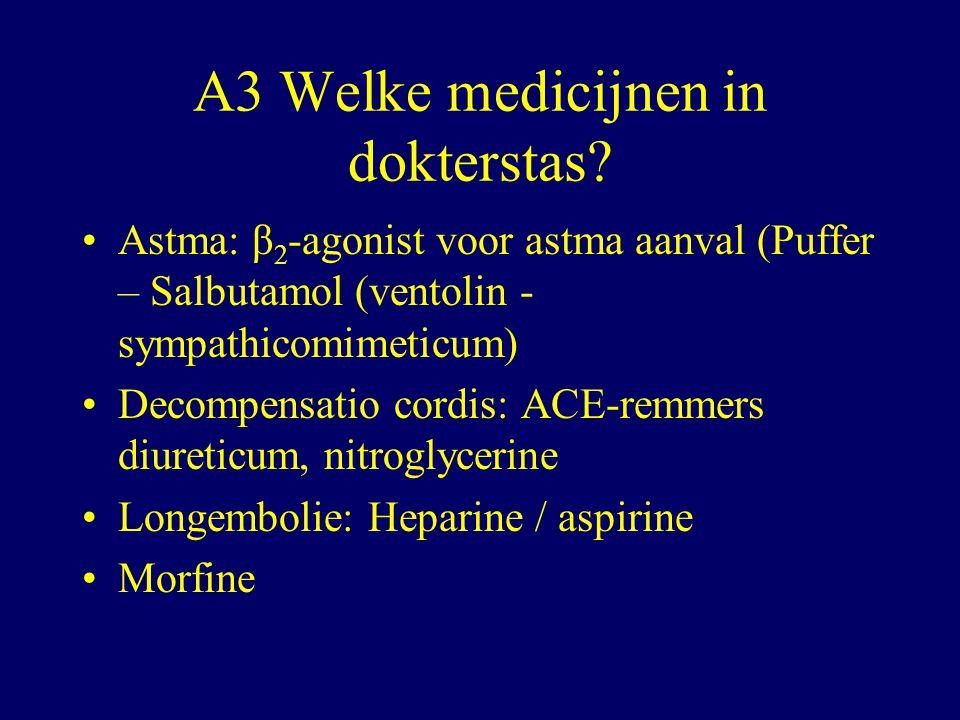 A3 Welke medicijnen in dokterstas