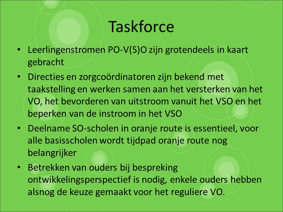 Taskforce Leerlingenstromen PO-V(S)O zijn grotendeels in kaart gebracht.