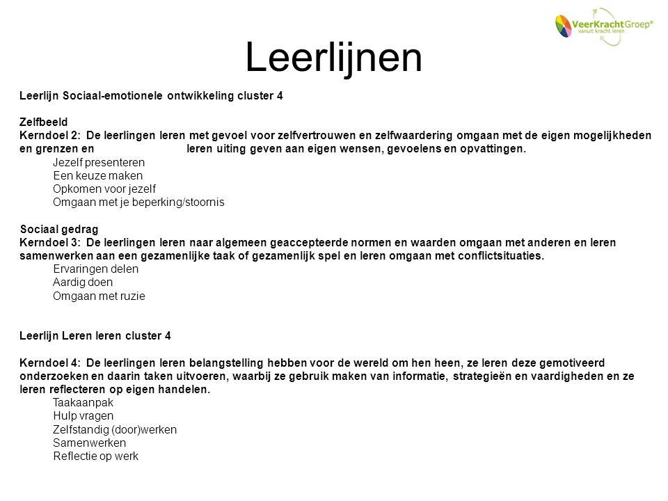 Leerlijnen Leerlijn Sociaal-emotionele ontwikkeling cluster 4