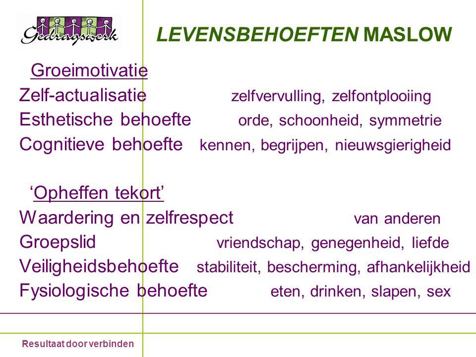 LEVENSBEHOEFTEN MASLOW