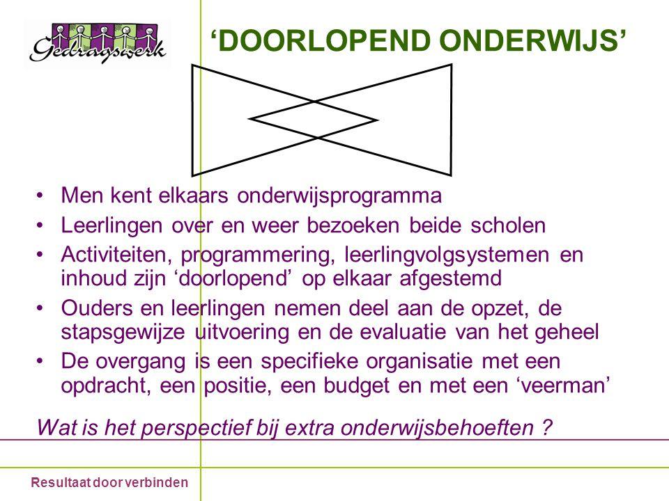 'DOORLOPEND ONDERWIJS'