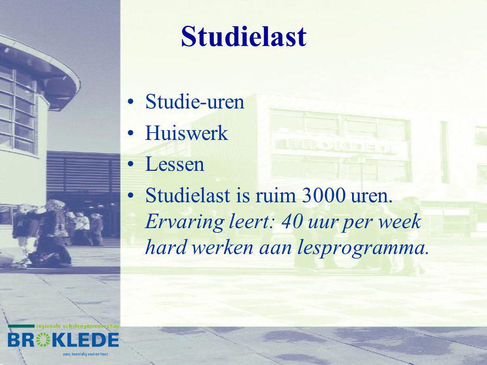 Studielast Studie-uren Huiswerk Lessen