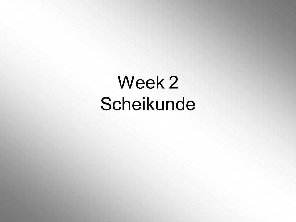 Week 2 Scheikunde
