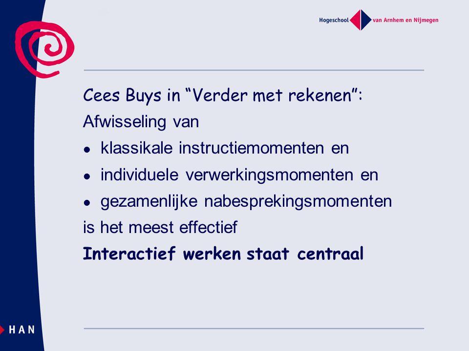Cees Buys in Verder met rekenen :