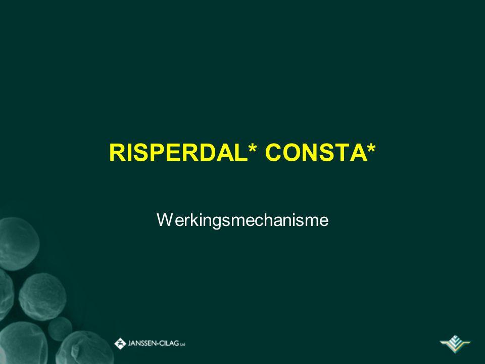 RISPERDAL* CONSTA* Werkingsmechanisme