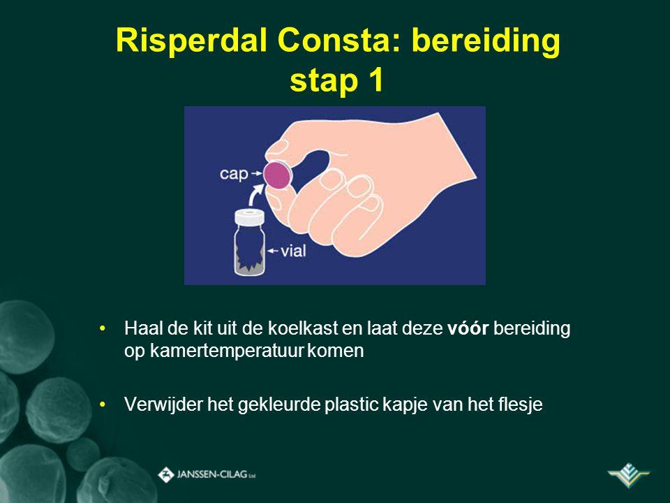 Risperdal Consta: bereiding stap 1