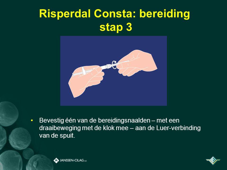Risperdal Consta: bereiding stap 3