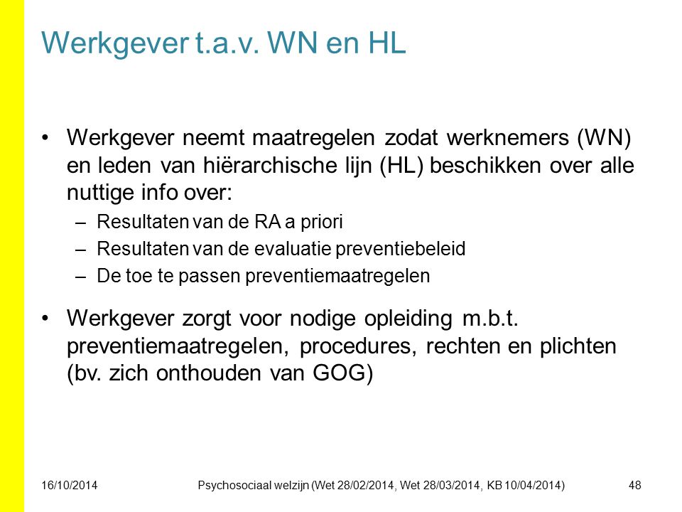 Werkgever t.a.v. WN en HL