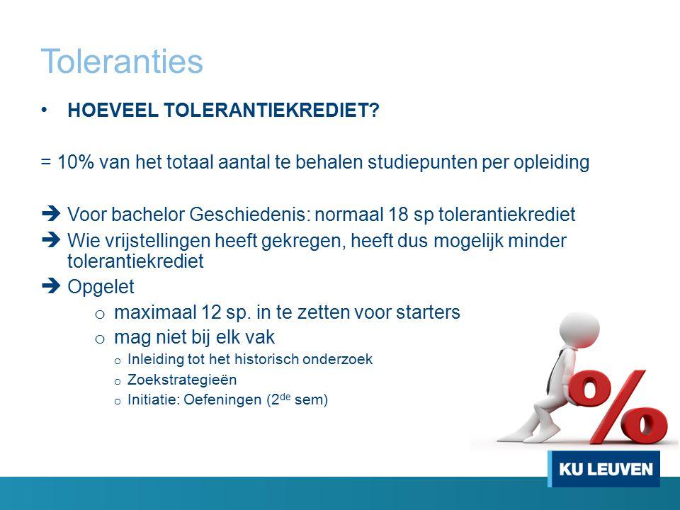 Toleranties HOEVEEL TOLERANTIEKREDIET