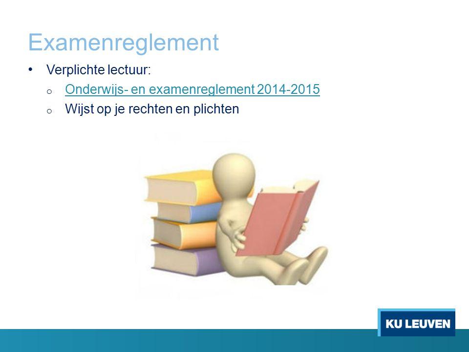 Examenreglement Verplichte lectuur:
