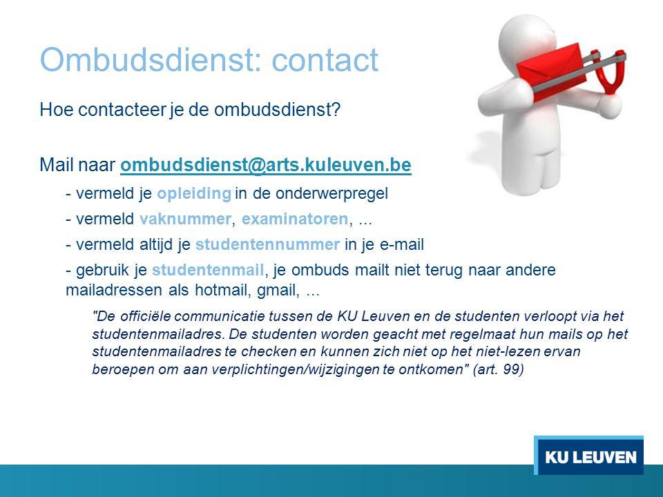 Ombudsdienst: contact