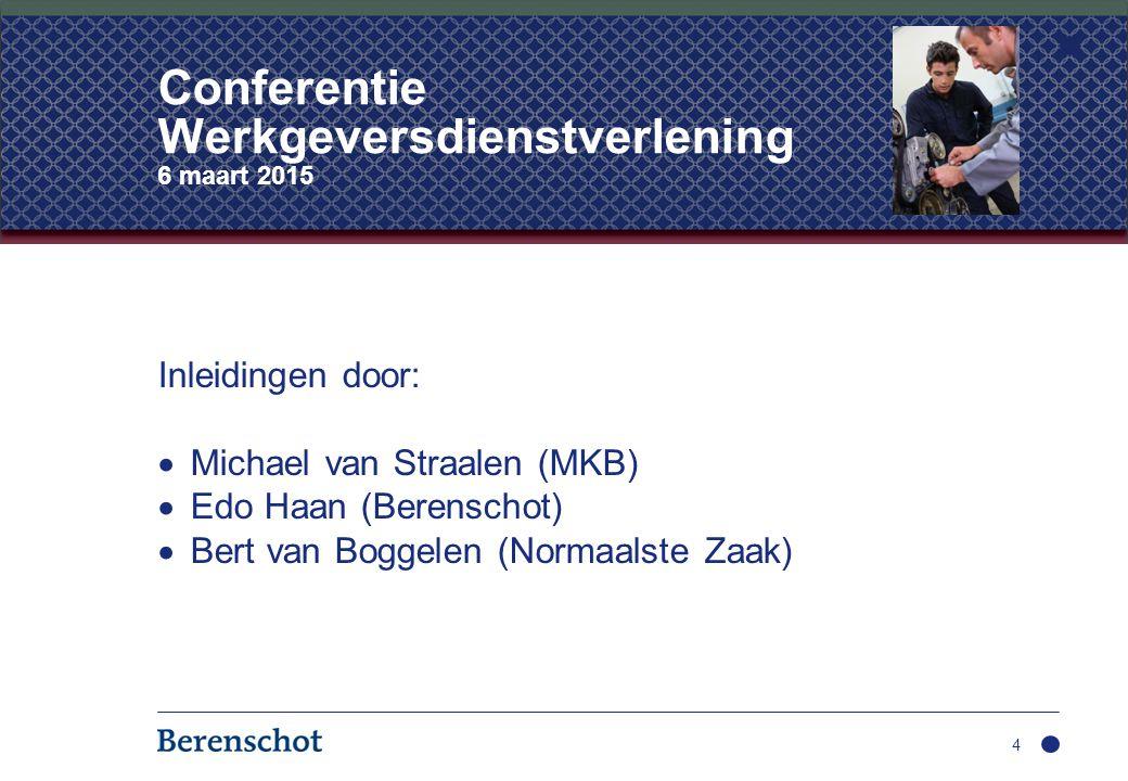 Conferentie Werkgeversdienstverlening 6 maart 2015
