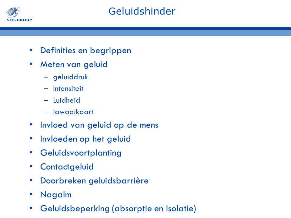 Definities en begrippen Meten van geluid