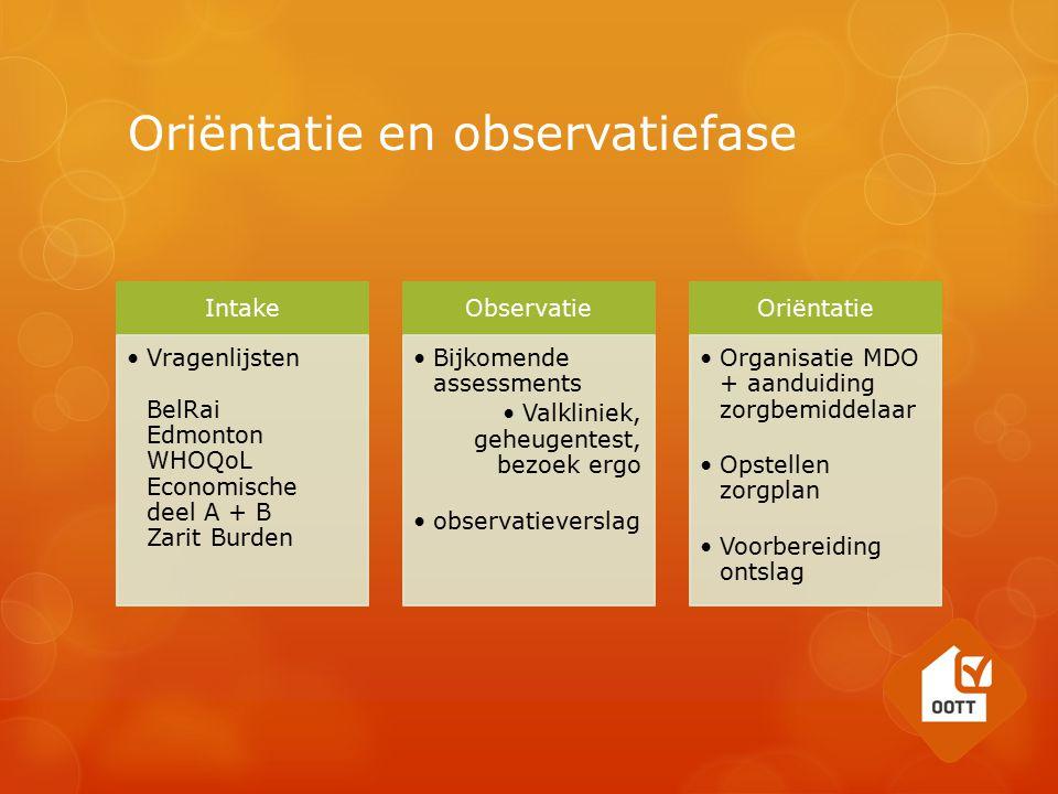 Oriëntatie en observatiefase