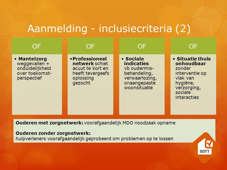 Aanmelding - inclusiecriteria (2)