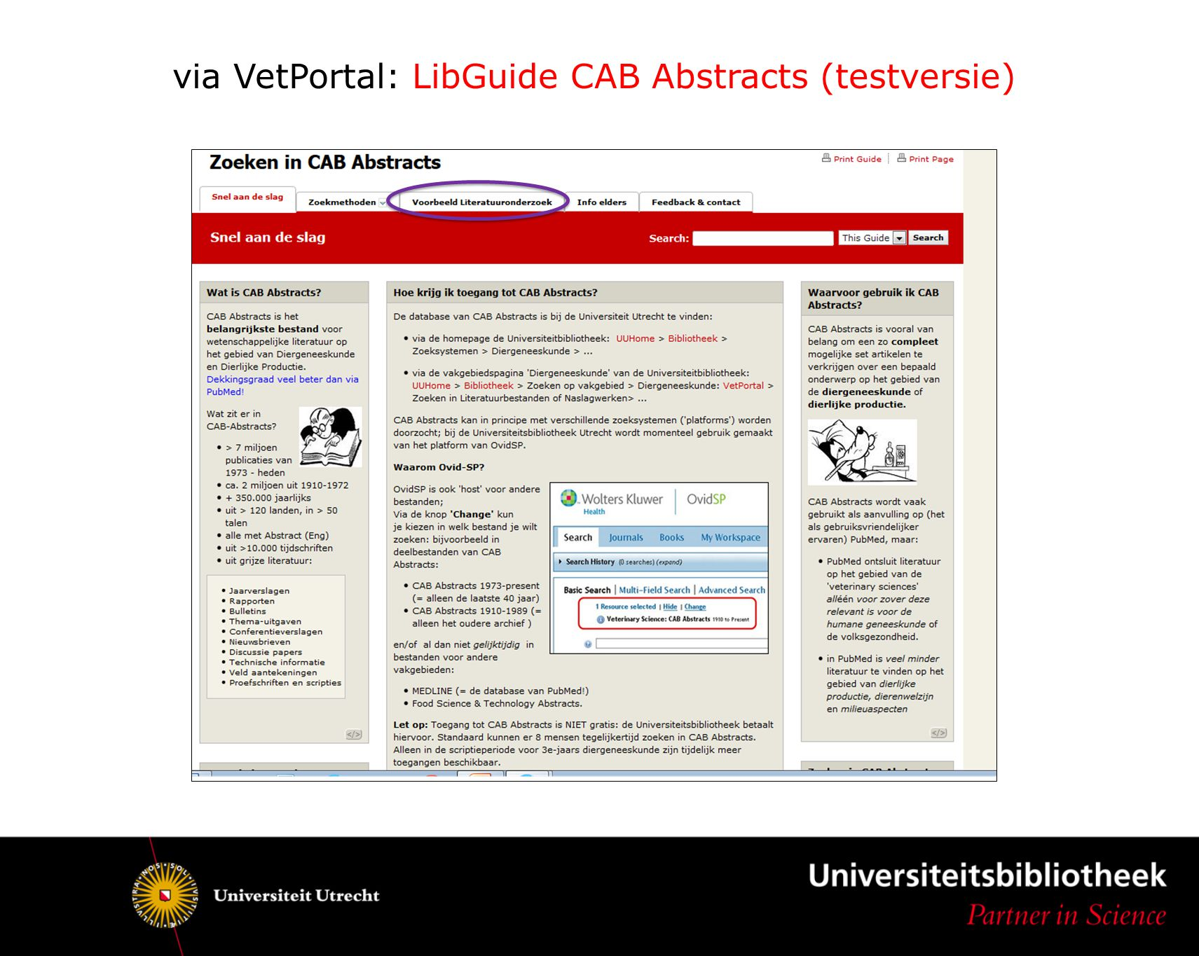 via VetPortal: LibGuide CAB Abstracts (testversie)