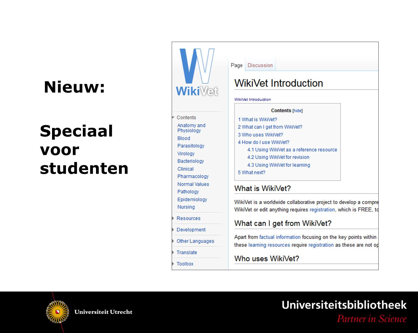 Nieuw: Speciaal voor studenten